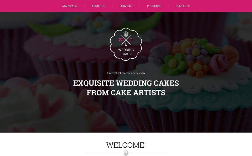 Reszponzív Esküvői torták  Weboldal sablon New Screenshots BIG