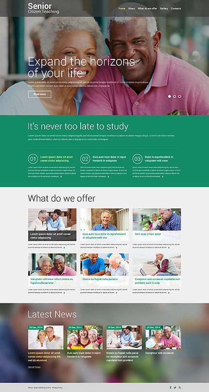 Template #50919 Knowledge Students Bootstrap - Desktop Layout