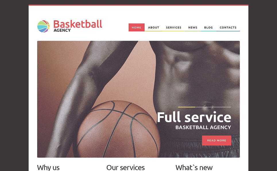 Responsive WordPress thema over Basketball  New Screenshots BIG