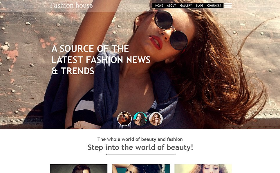 Muse Template over Fashion Blog  New Screenshots BIG