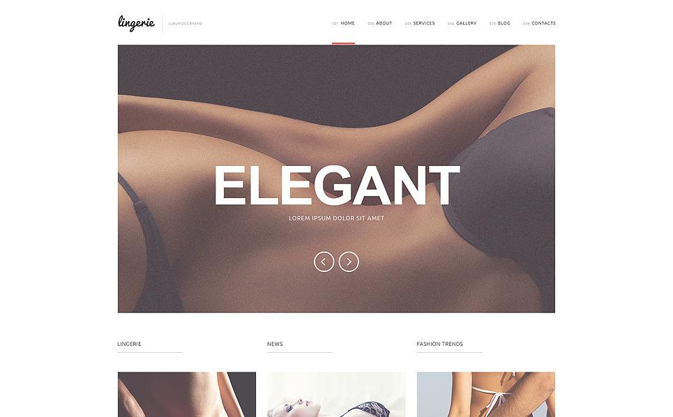 Responzivní WordPress motiv na téma Spodní prádlo New Screenshots BIG