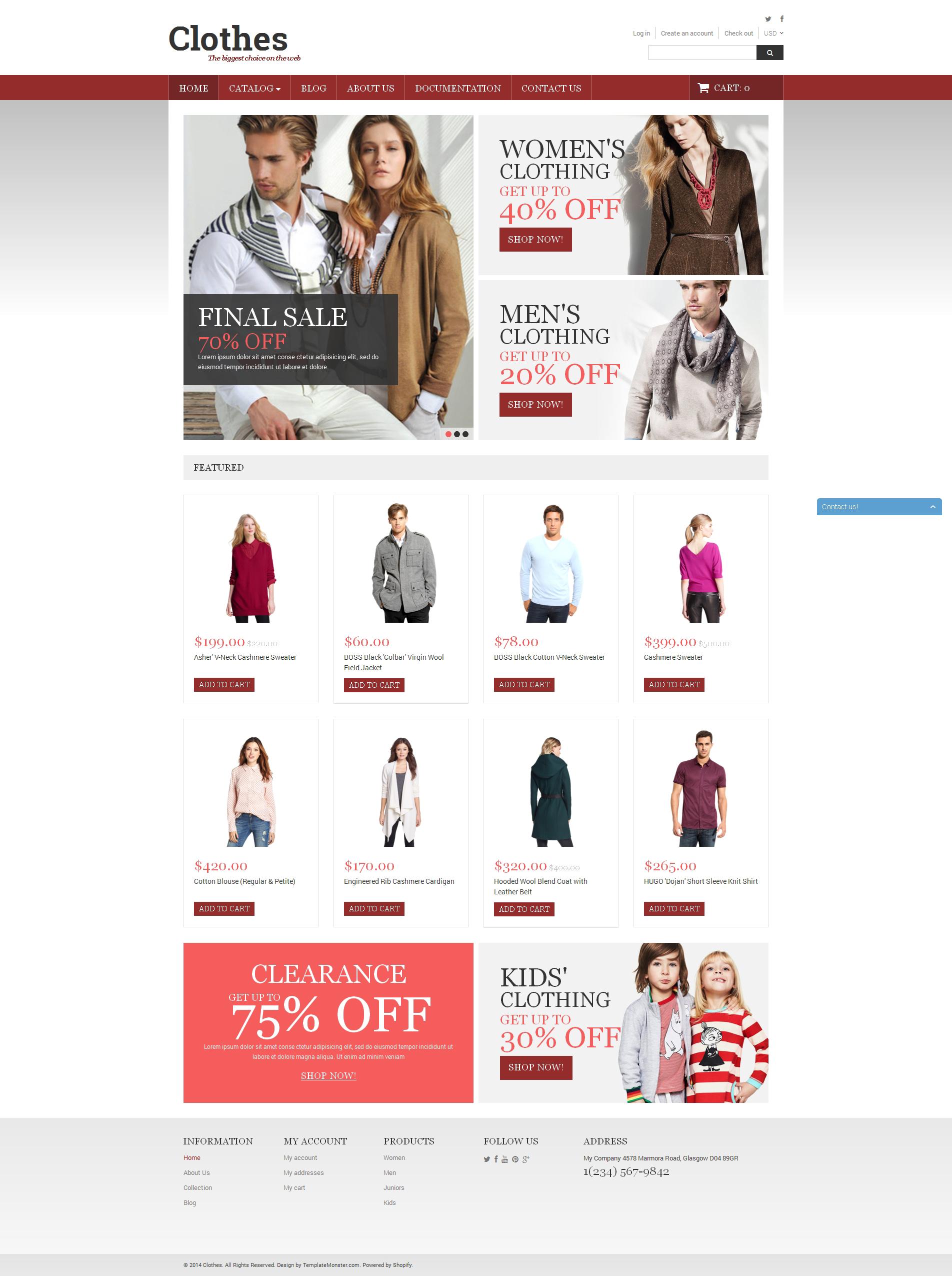 0f0f93c381d Best Clothes Online Shop Shopify Design  50938 Sale. Super low price ...