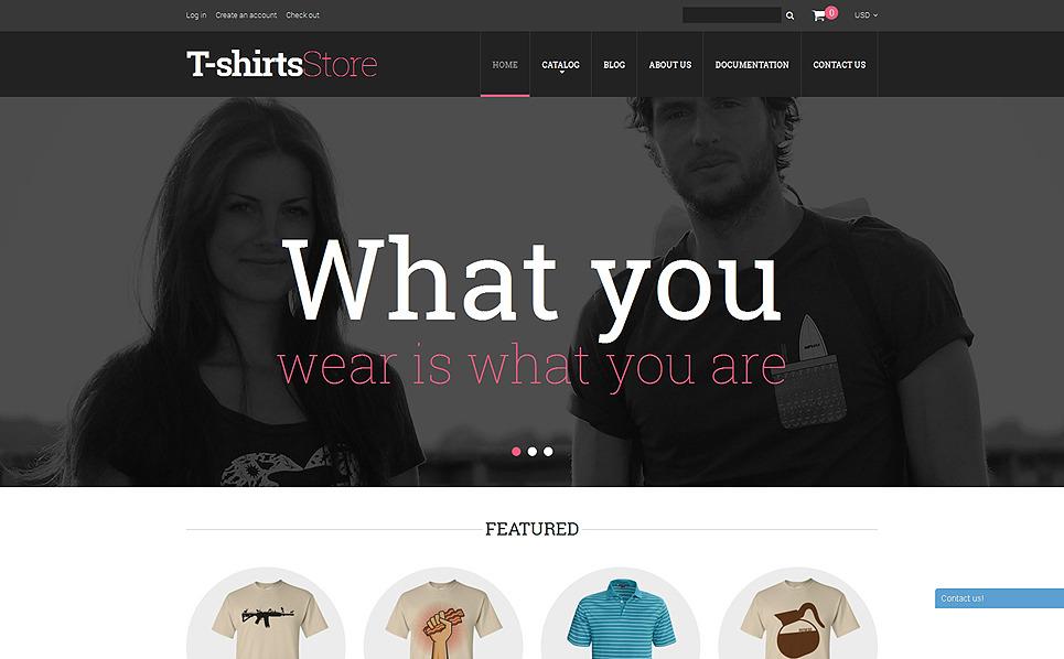 Reszponzív Póló webáruházak Shopify sablon New Screenshots BIG