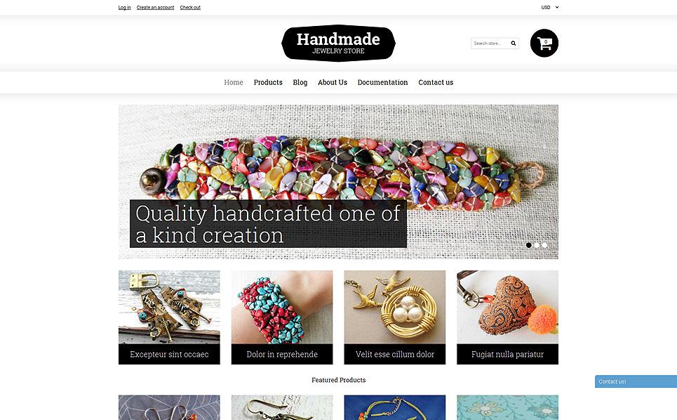 Responsive Shopify Thema over Ambachten  New Screenshots BIG
