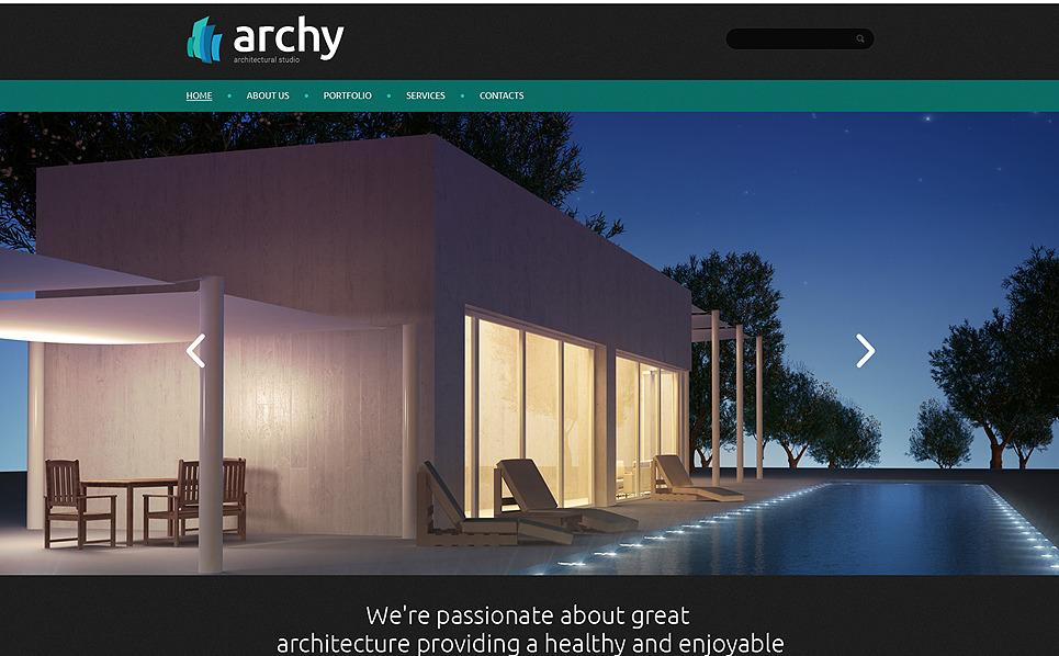 Responsive Website template over Architectuur New Screenshots BIG