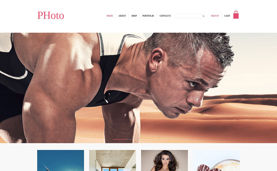 Template PSD  #50950 per Un Sito di Fotografi Portfolio New Screenshots BIG