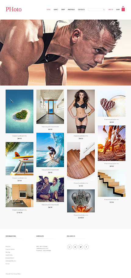 ADOBE Photoshop Template 50950 Home Page Screenshot
