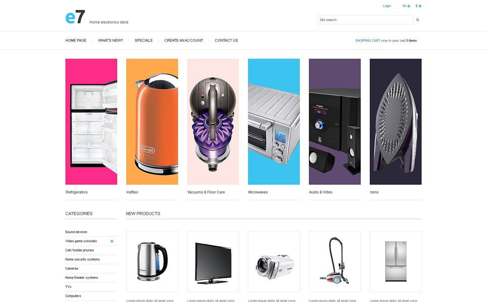 Template Photoshop  para Sites de Loja de Eletrônicos №50955 New Screenshots BIG