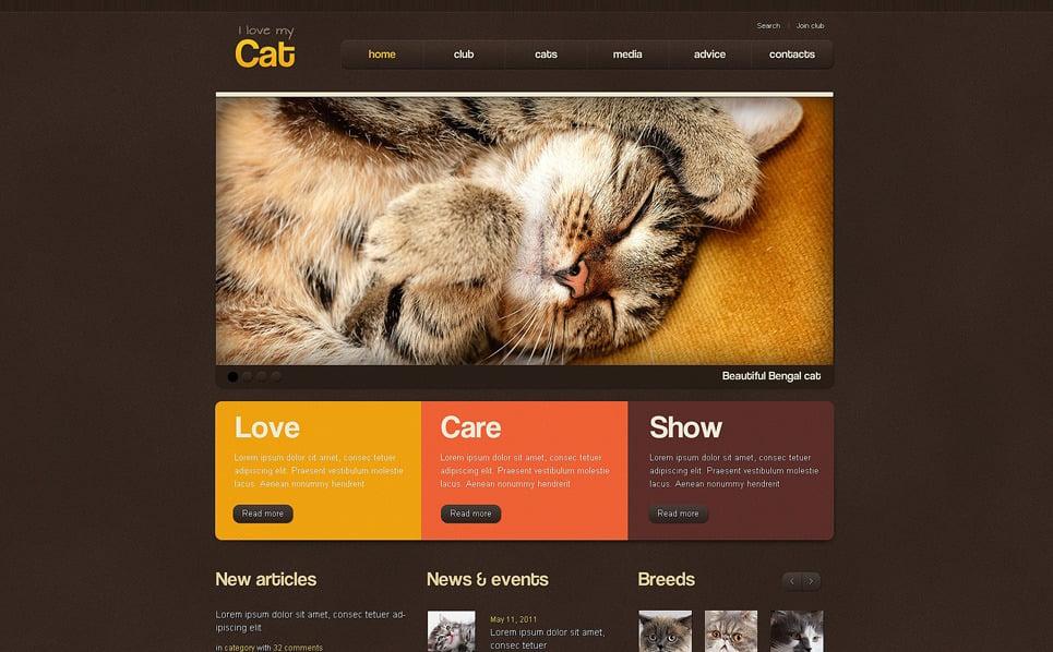 Template Photoshop  para Sites de Gatos №50957 New Screenshots BIG