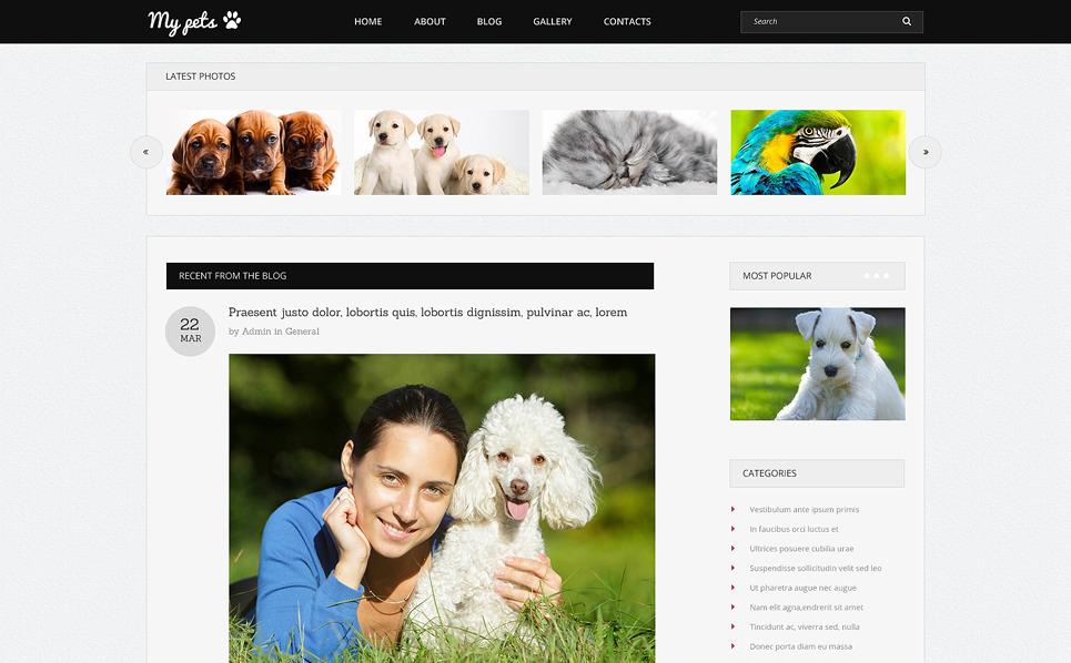 Drupal шаблон на тему тварини New Screenshots BIG