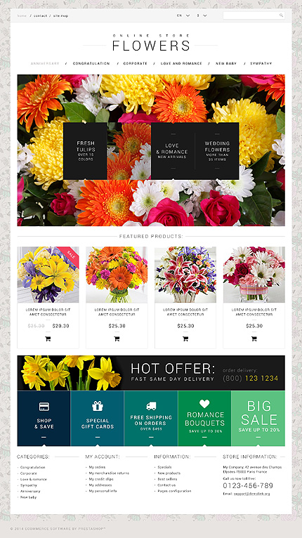 ADOBE Photoshop Template 50971 Home Page Screenshot