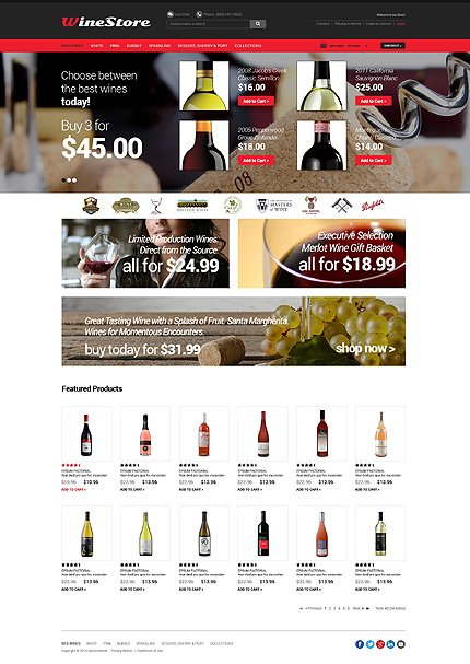 osCommerce Template 50974 Main Page Screenshot