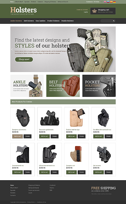 osCommerce Template 50975 Main Page Screenshot