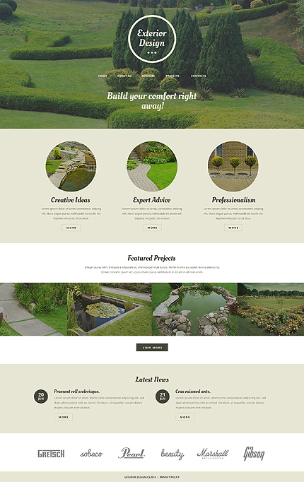 Exterior design website template 50986 for Exterior design website templates