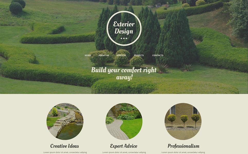Responsive Website template over Exterieur-design  New Screenshots BIG