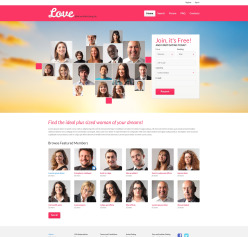 Dating Agency Website Templates - Dating website template