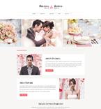 Wedding Website  Template 50993