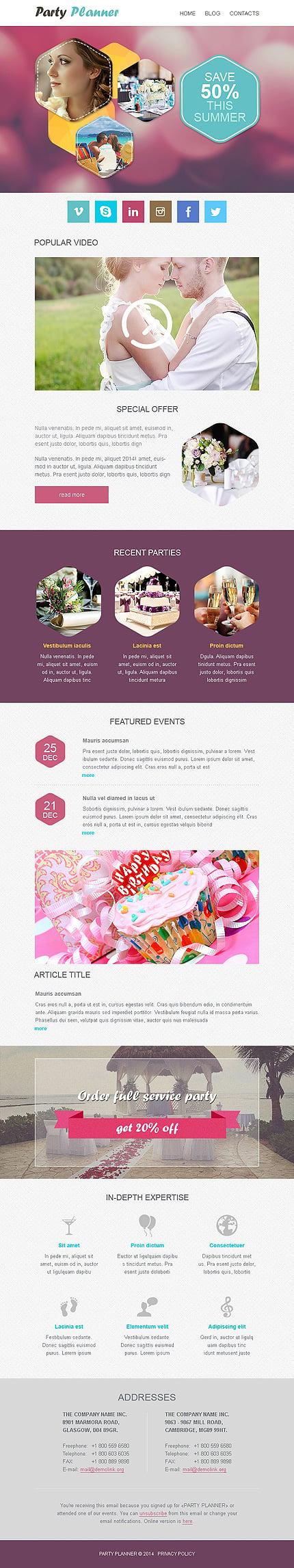 Newsletter Main Screenshot