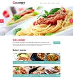 Cafe & Restaurant Website  Template 50995