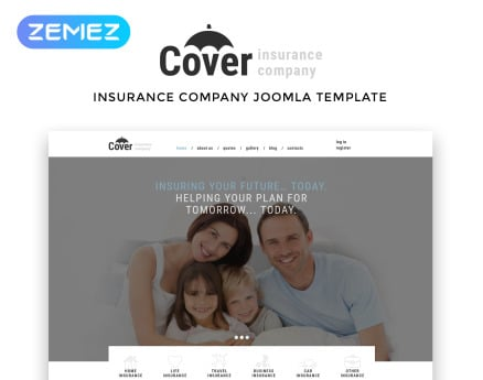 Cover - Insurance Company Multipage Joomla Template