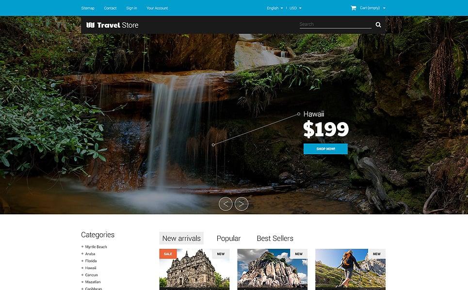 Tema PrestaShop  Flexível para Sites de Loja de Viagens №50998 New Screenshots BIG