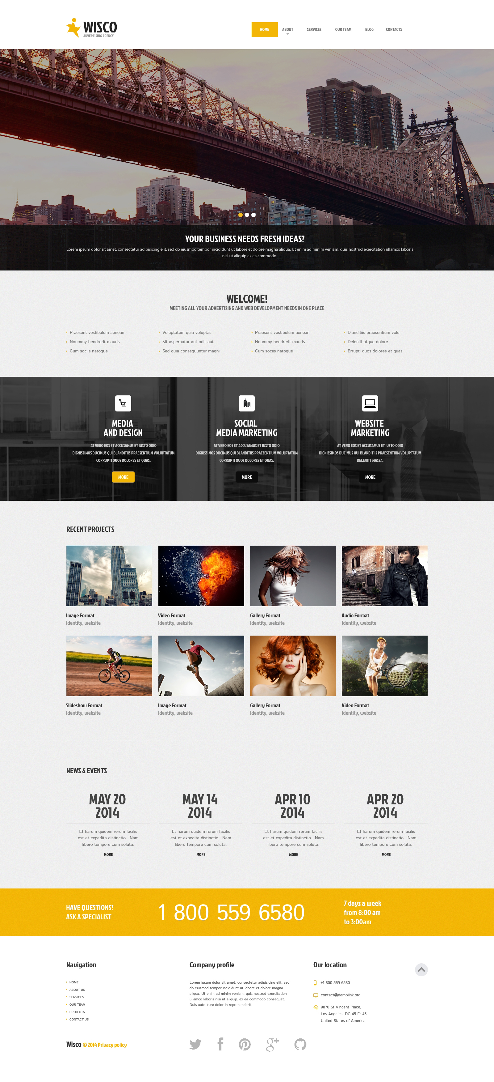 Advertising Agency Responsive WordPress Theme - screenshot