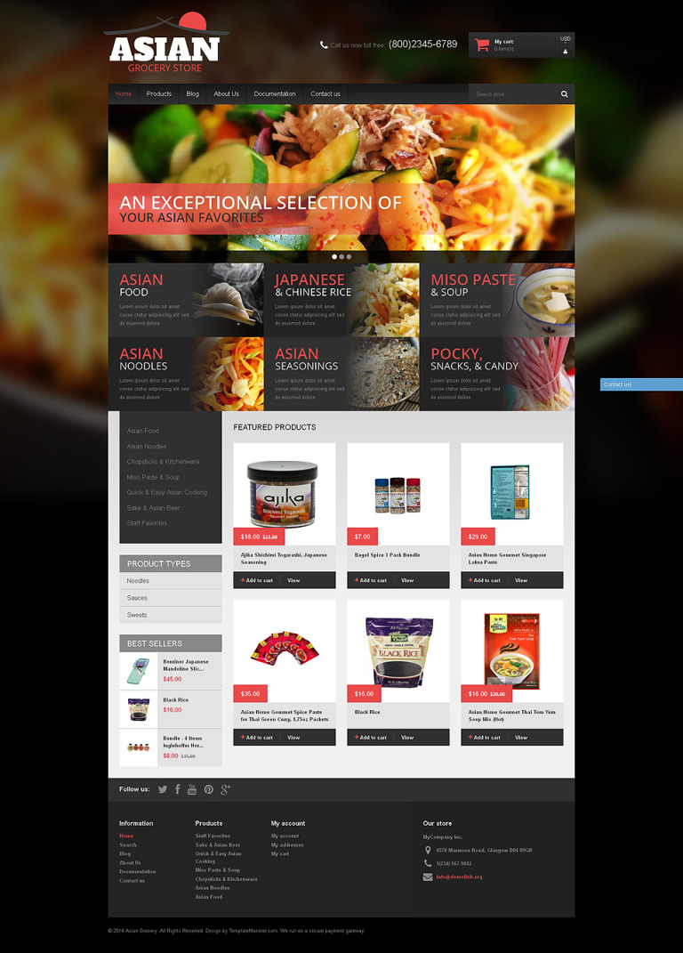 Asian Cuisine Products Shopify Theme New Screenshots BIG
