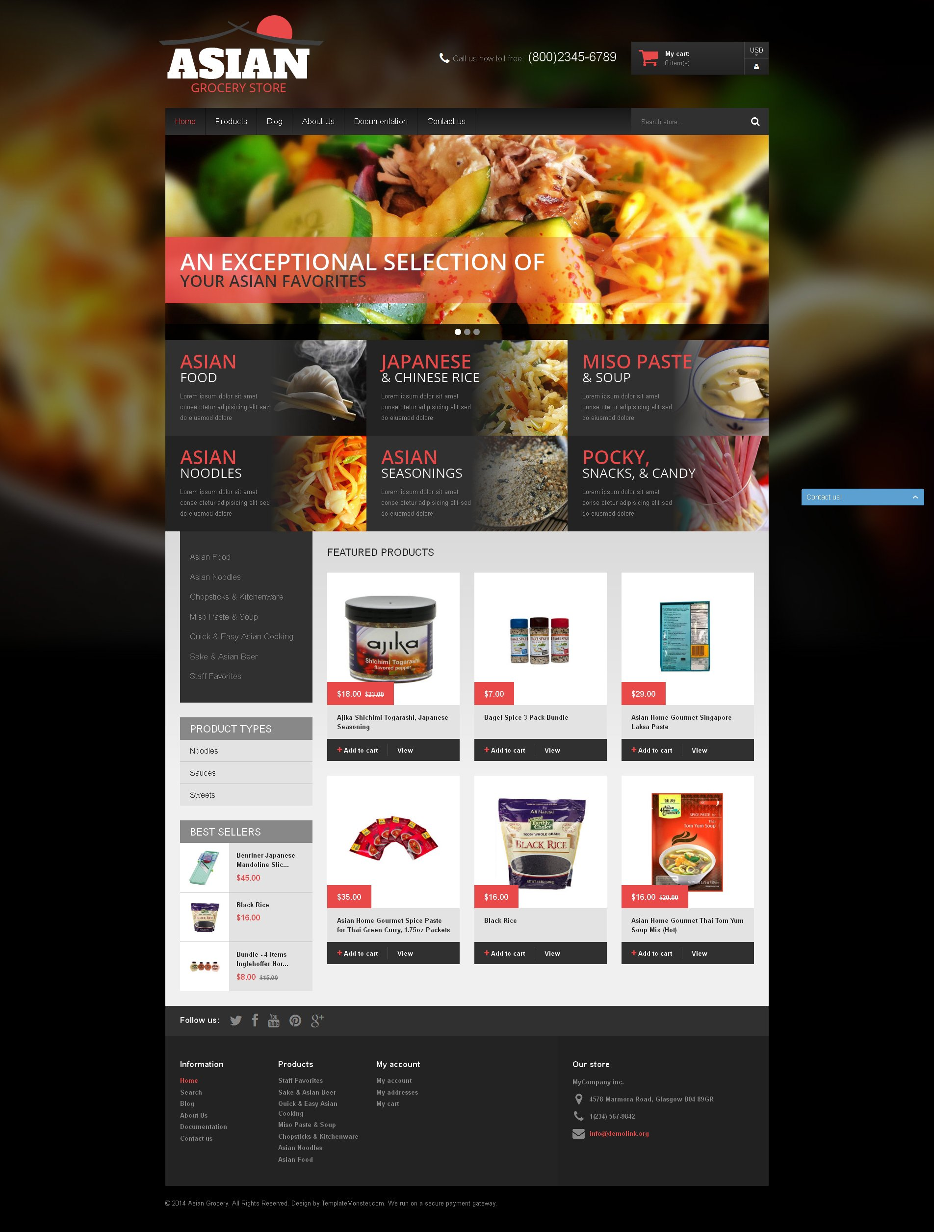 Asian Cuisine Products Shopify Theme - screenshot