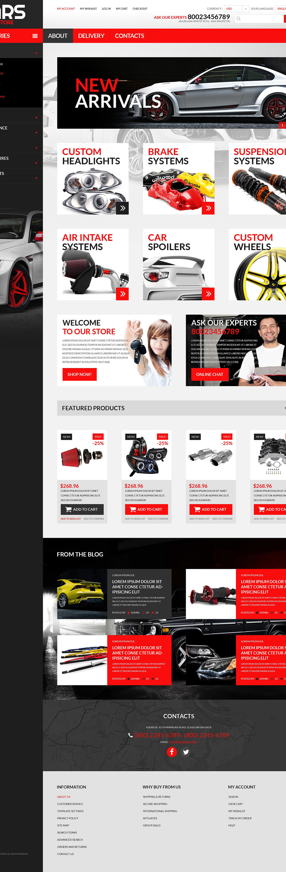 Auto Parts PSD Template New Screenshots BIG