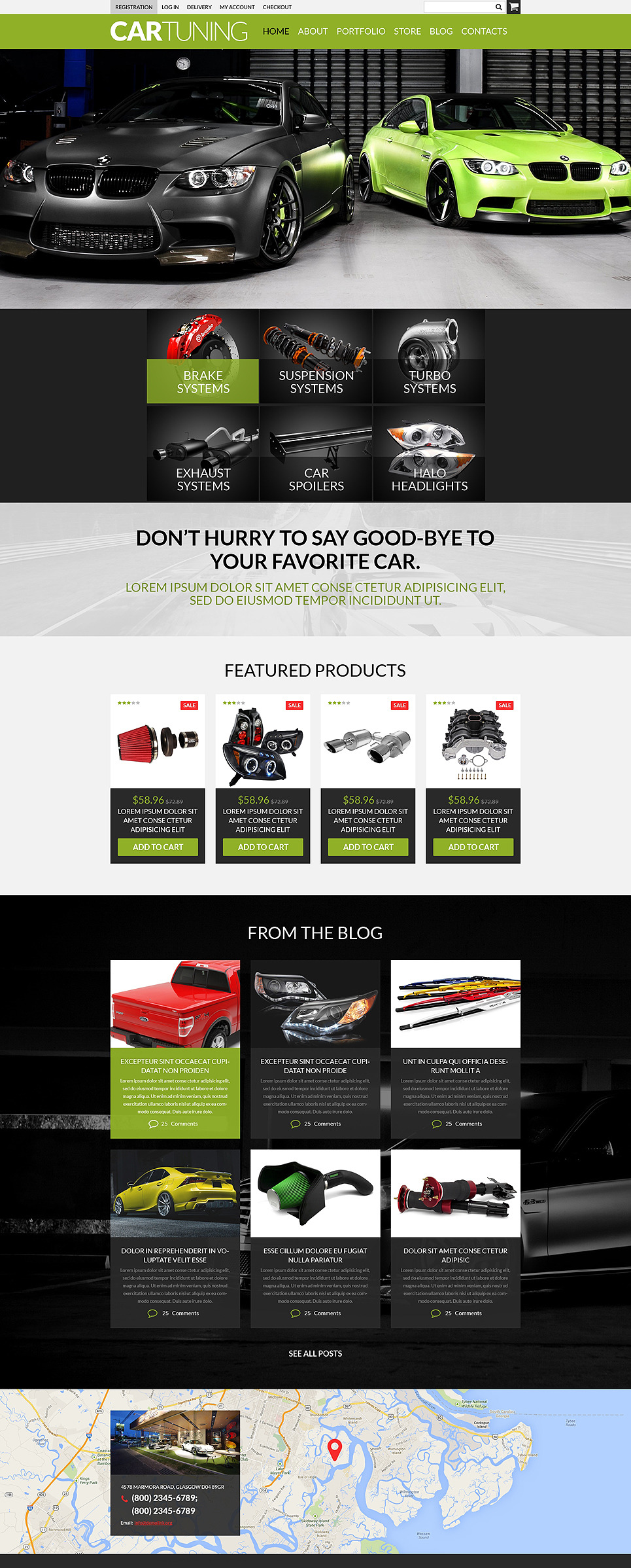 Auto Tuning Workshop WooCommerce Theme New Screenshots BIG
