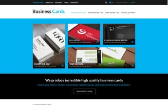 Business Cards Store VirtueMart Template