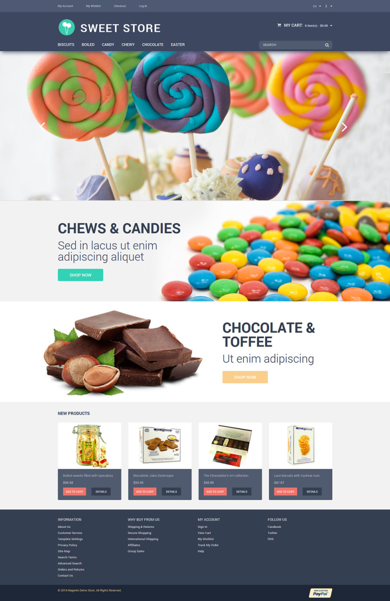 Candy Web Store Magento Theme New Screenshots BIG