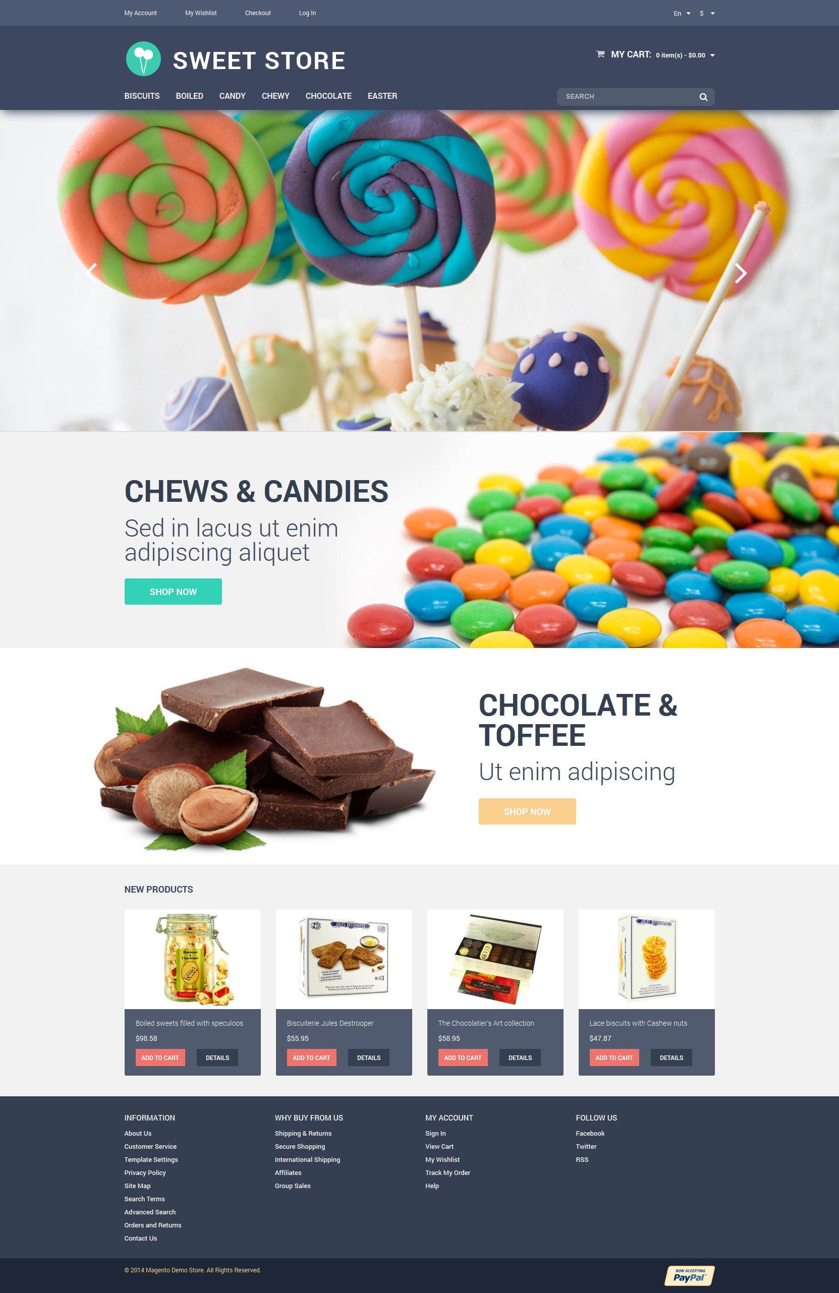 web store templates