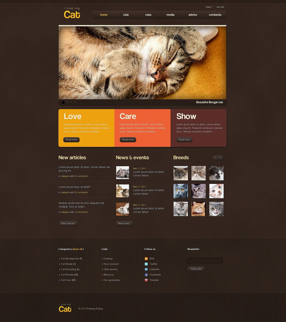 Cat PSD Template New Screenshots BIG