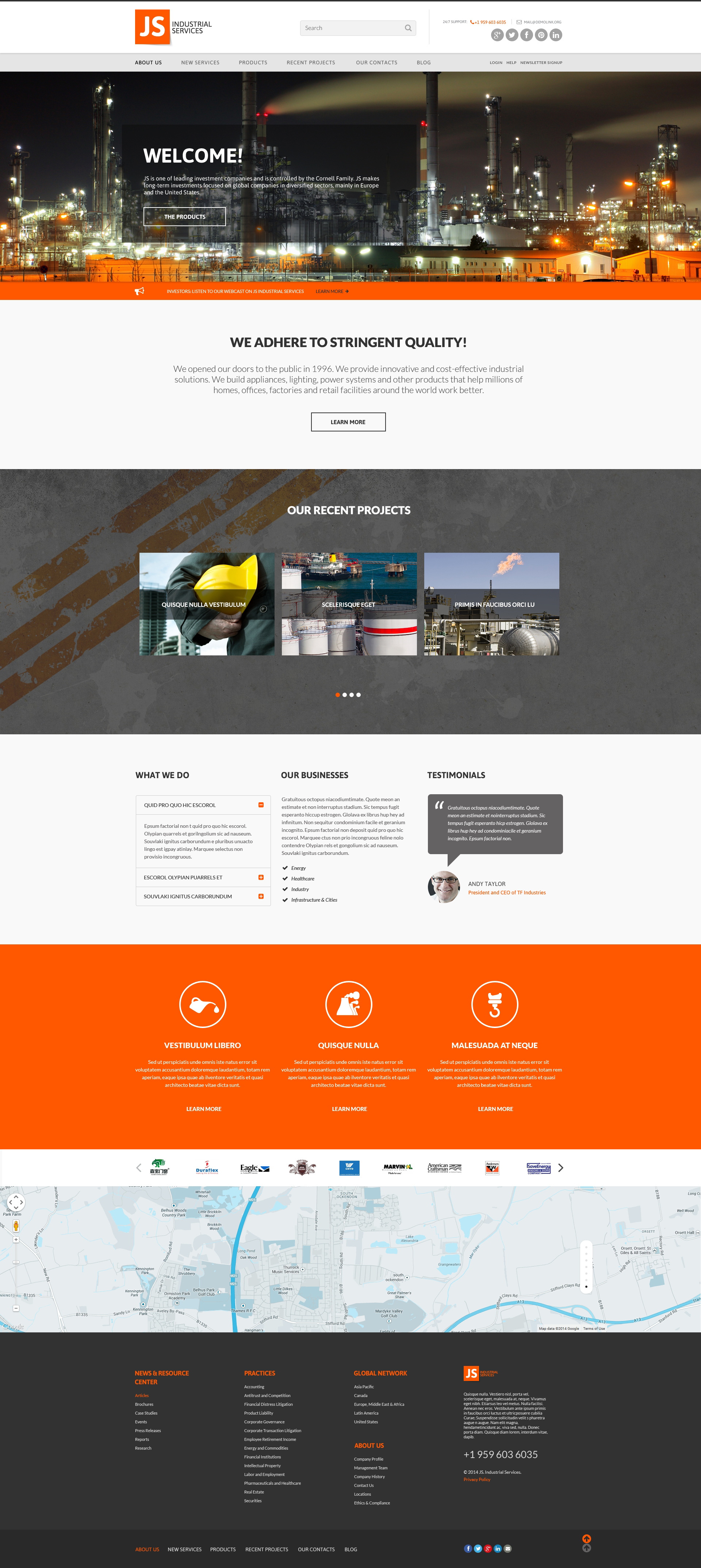 Civil Engineering Responsive Website Template #50946