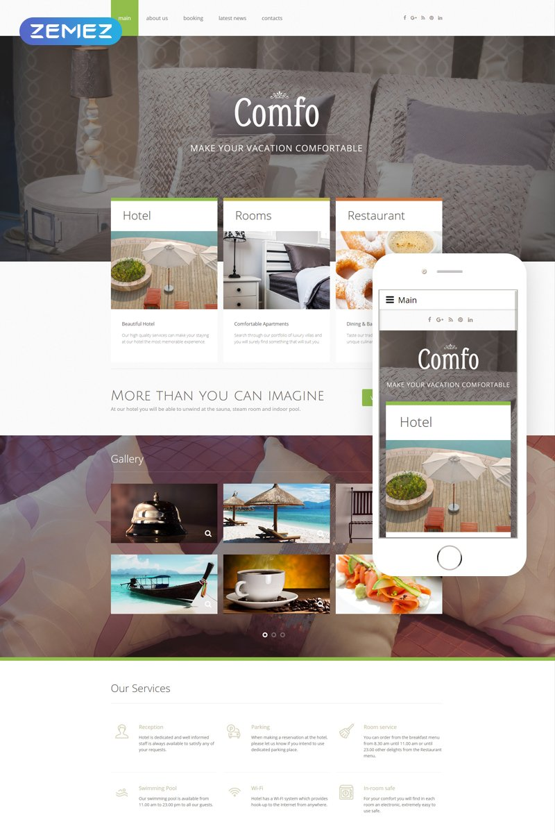 Cozy Vacation Joomla Template