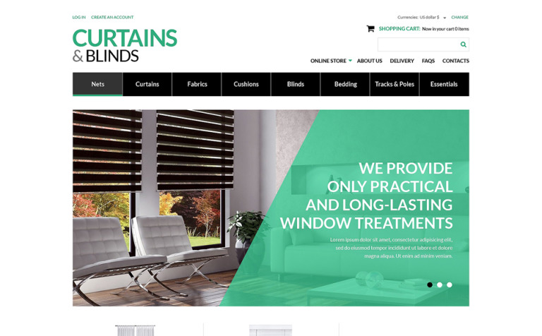 Curtains Blinds Salon VirtueMart Template