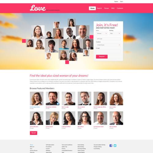 Love - Responsive Dating Website Template