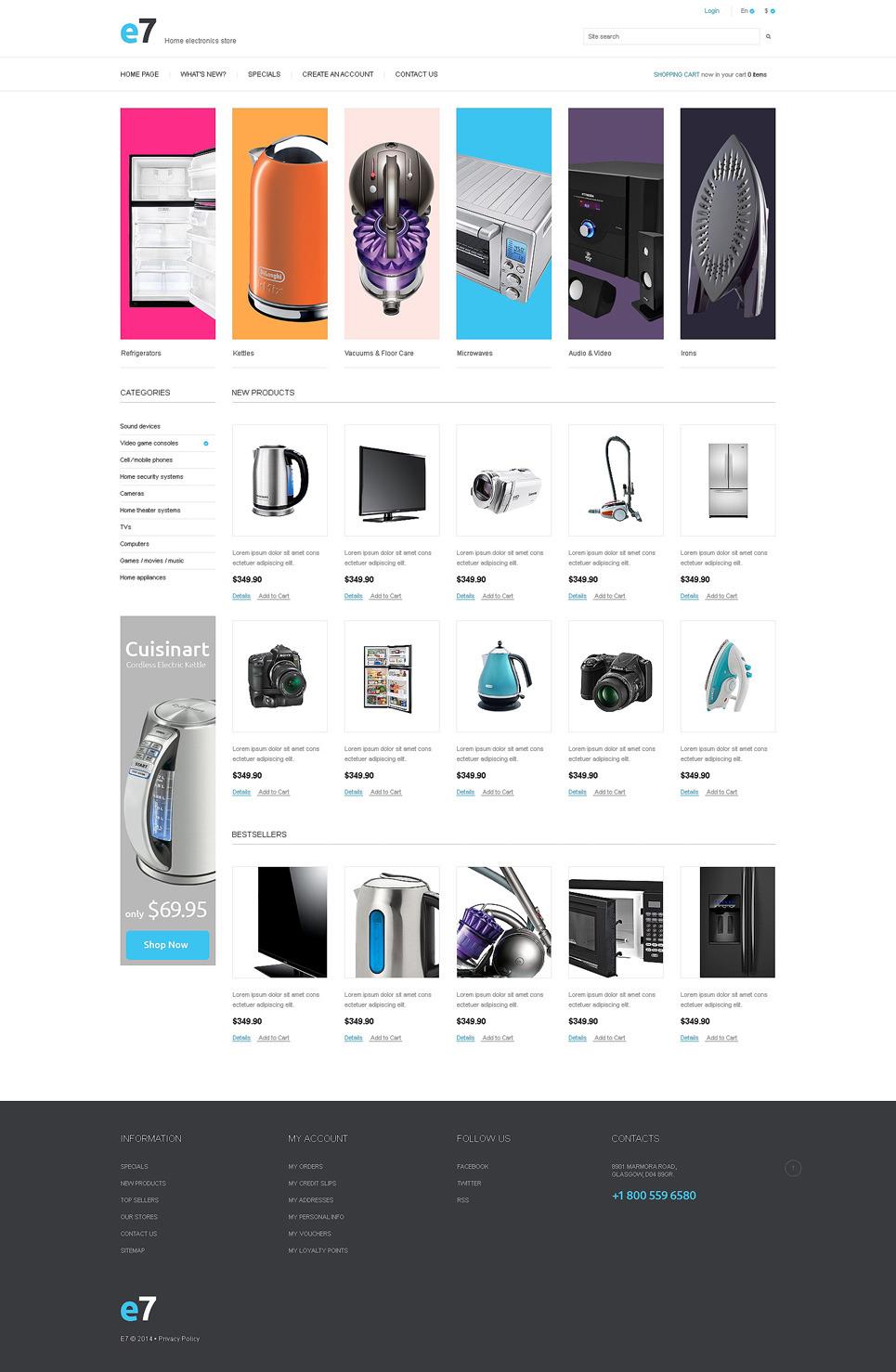 Electronics Store PSD Template New Screenshots BIG