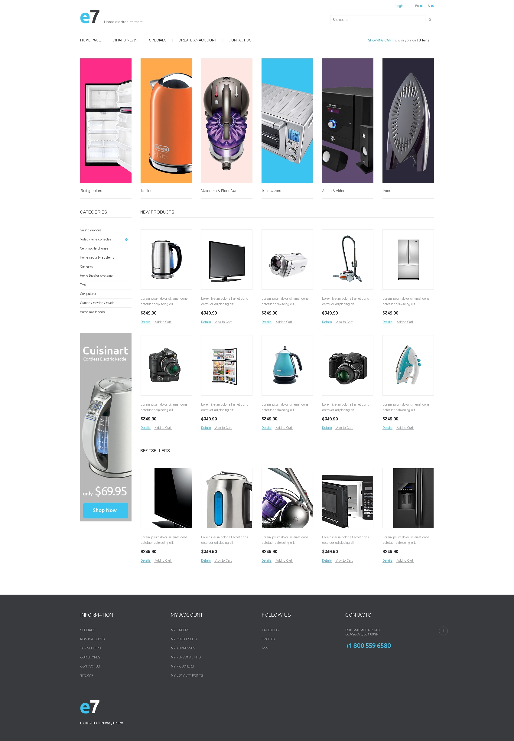 Electronics Store PSD Template - screenshot