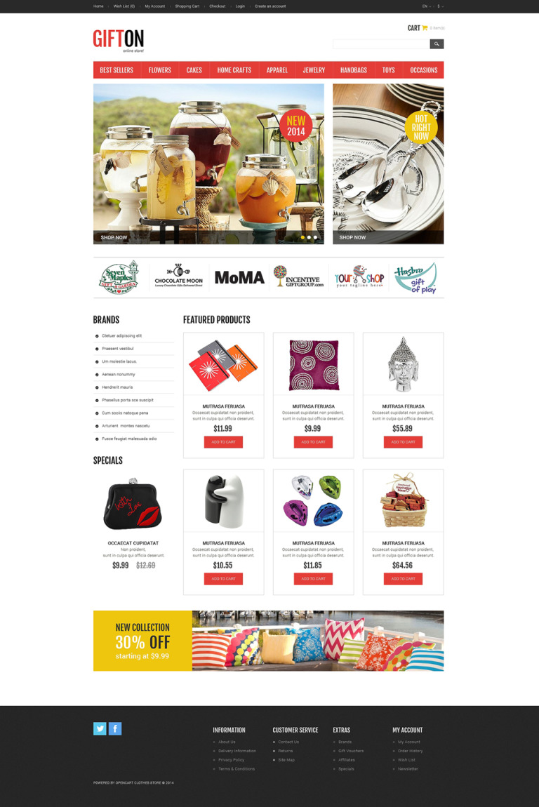 Enjoyable Gifts OpenCart Template New Screenshots BIG