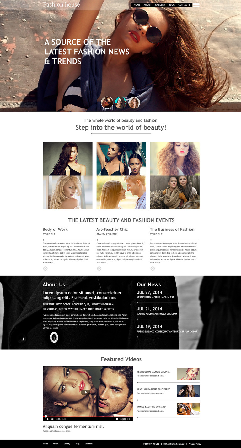 Fashion Blog Muse Template New Screenshots BIG