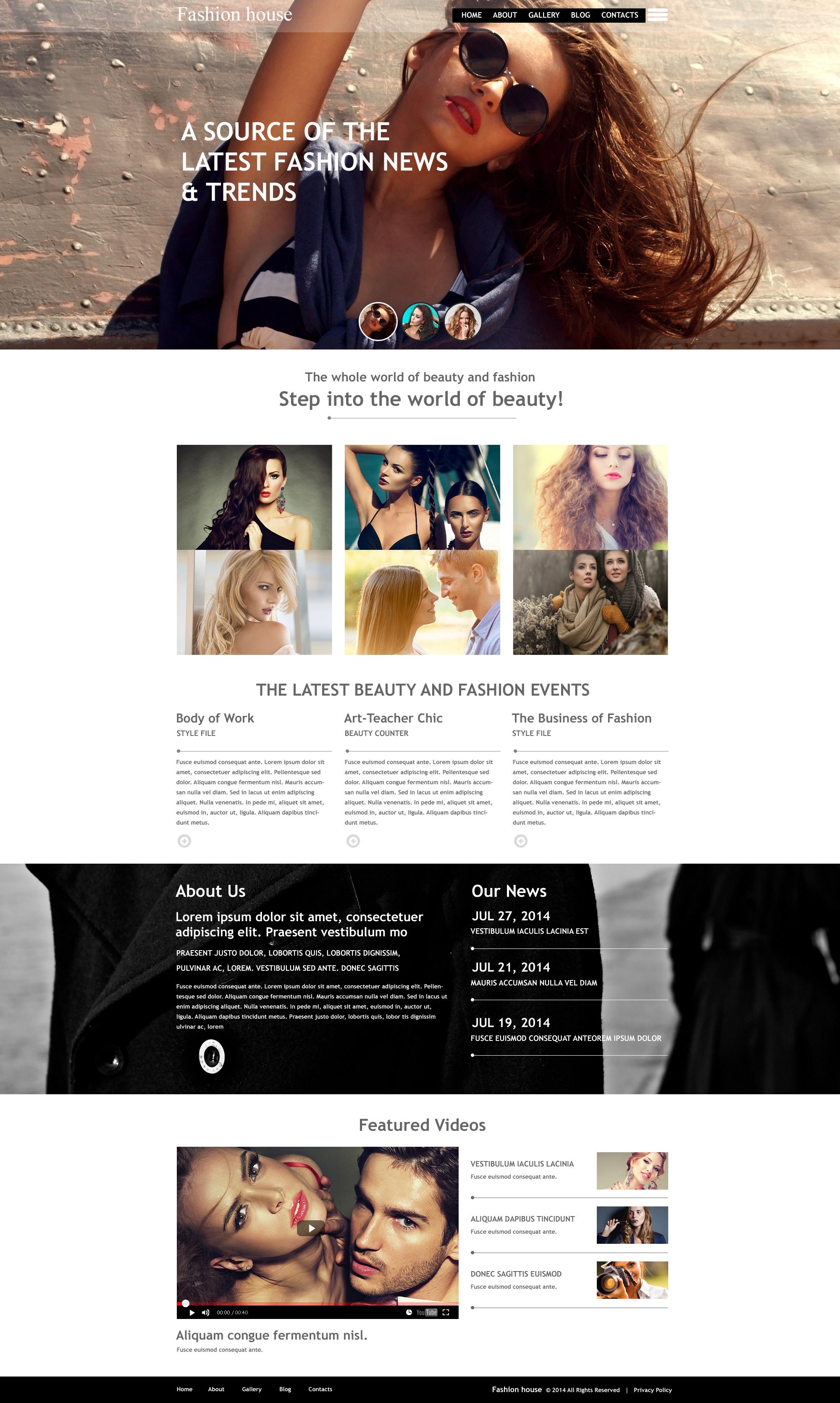 Fashion Blog Muse Template - screenshot