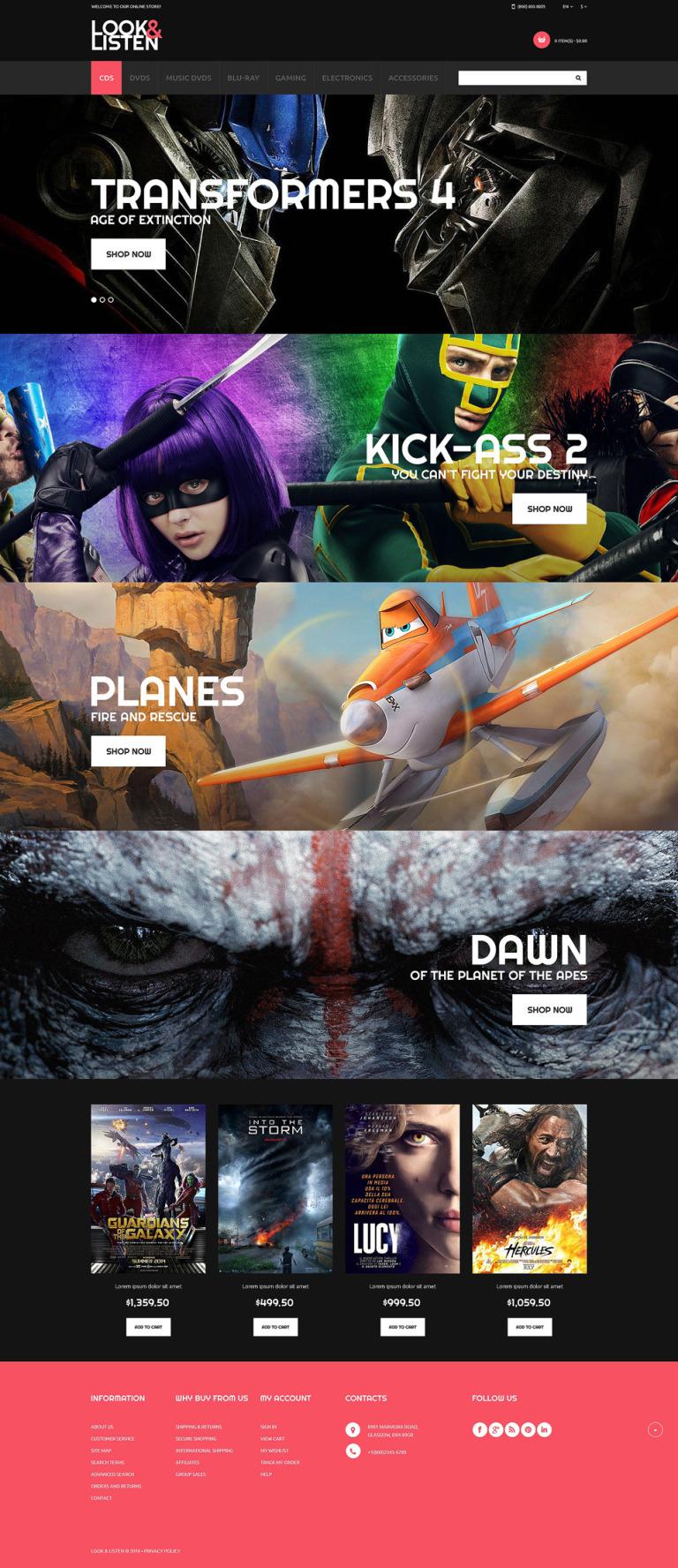 Games PSD Template New Screenshots BIG