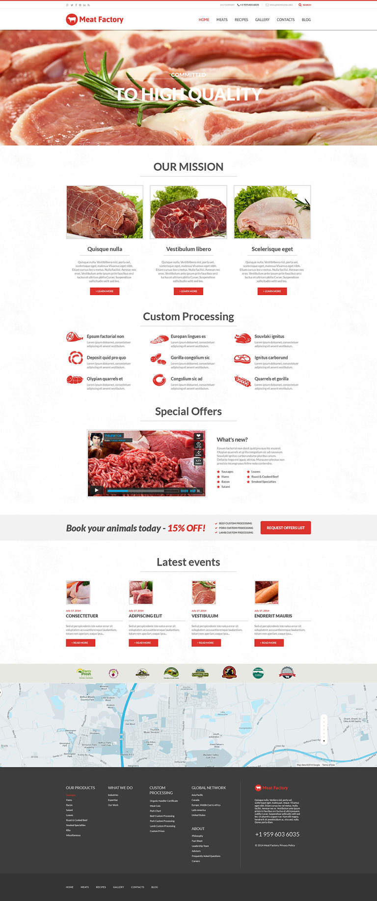 Health Benefits of Meat WordPress Theme New Screenshots BIG