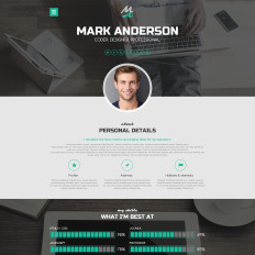 highclass portfolio parallax wordpress template. Resume Example. Resume CV Cover Letter