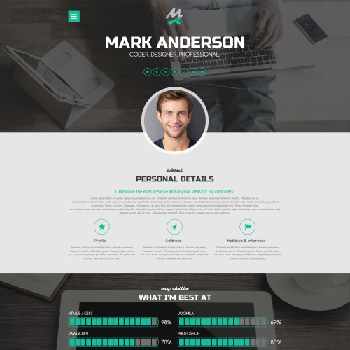 Mark Anderson - WordPress Template based on Bootstrap