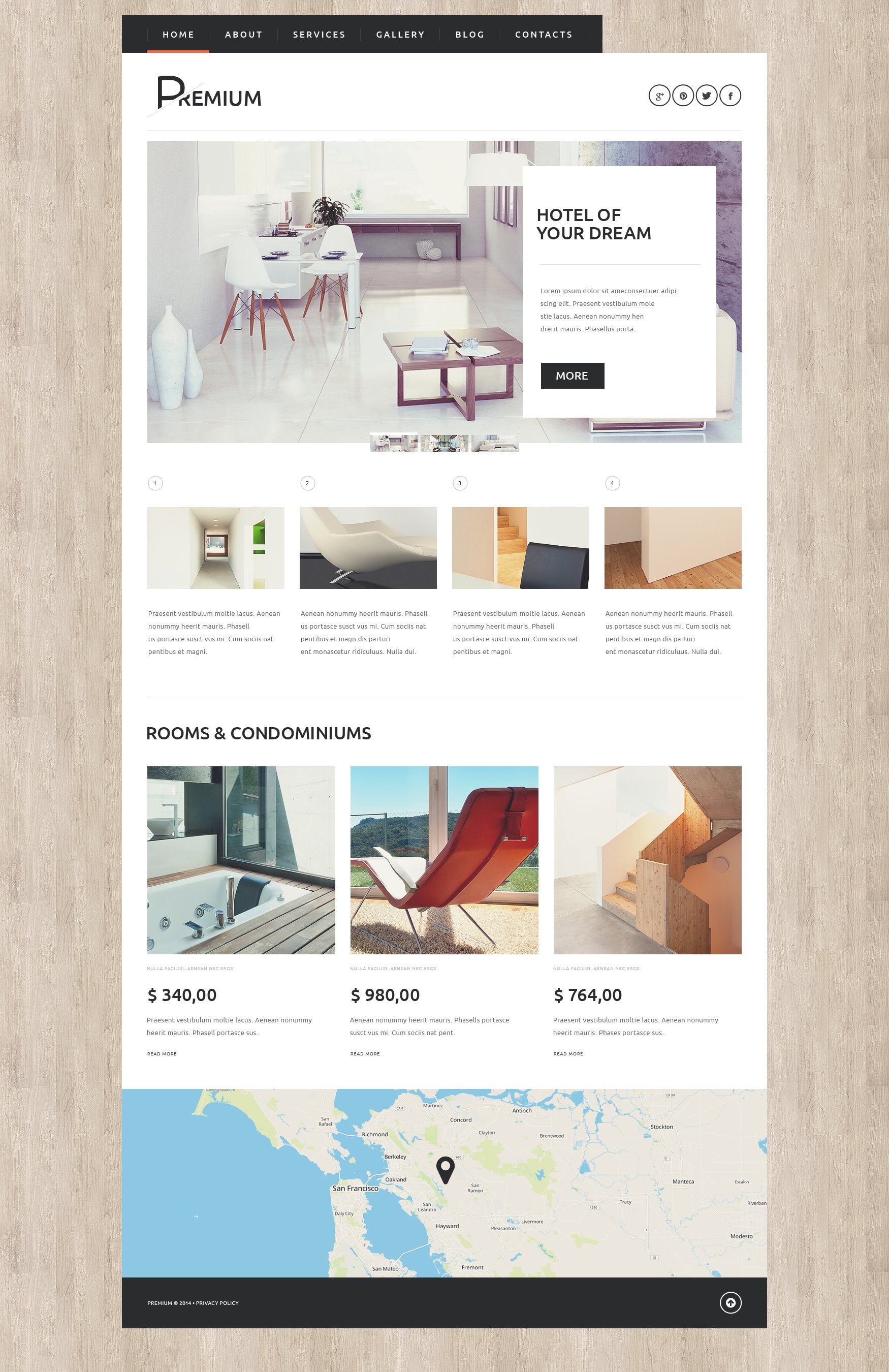 Hotels Booking Agency WordPress Theme - screenshot