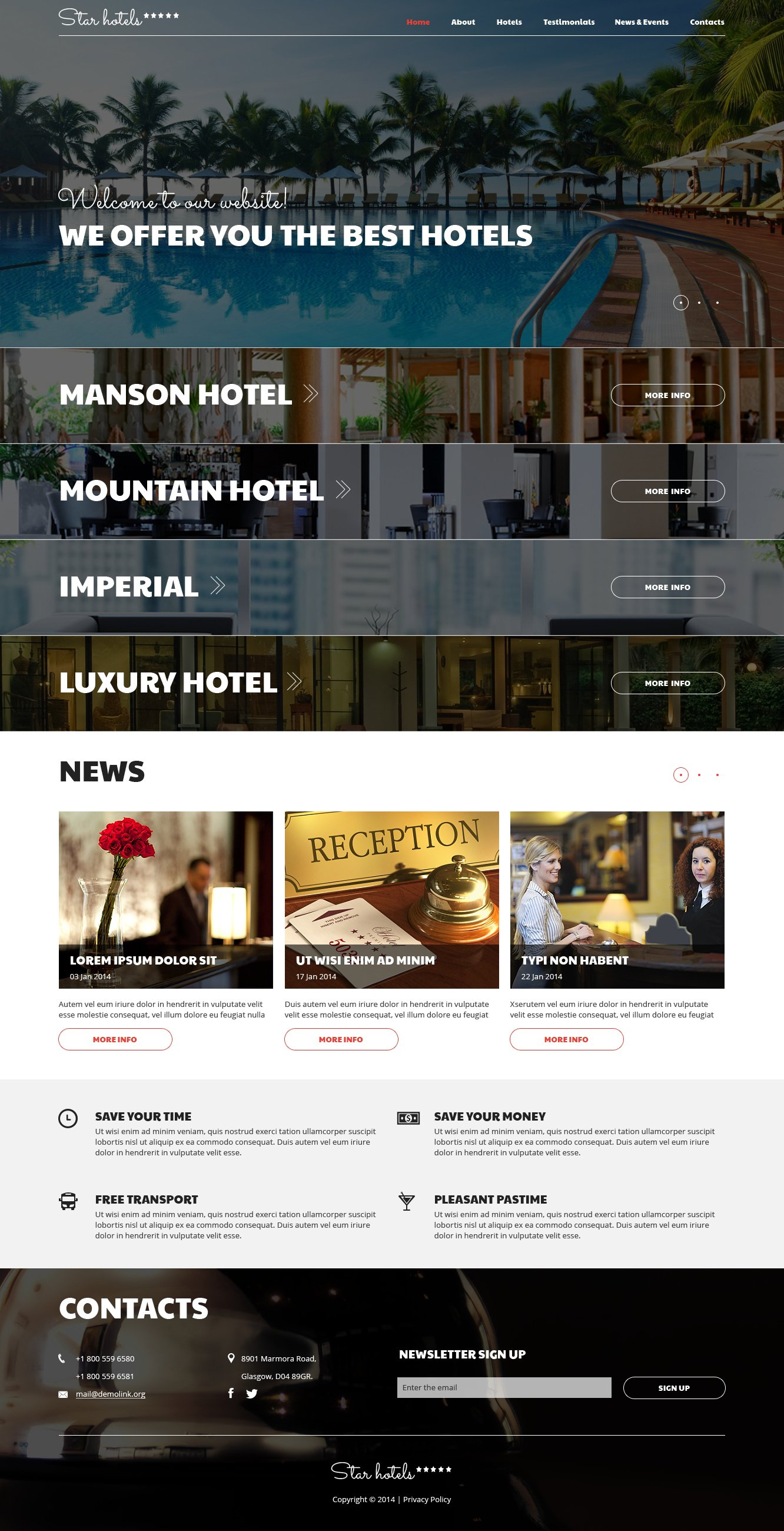 Hotels Responsive Joomla Template - screenshot