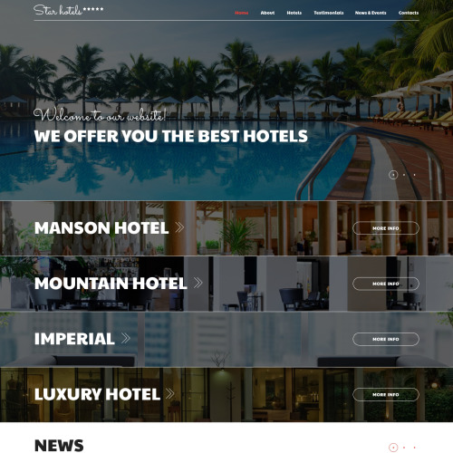 Star Hotels - Joomla! Template based on Bootstrap